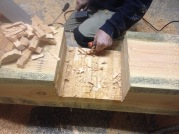 Half-houtverbinding